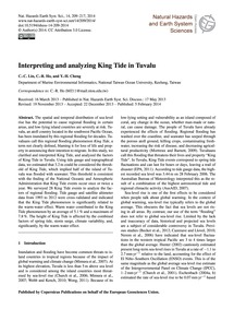 Interpreting and Analyzing King Tide in ... by Lin, C.-c.