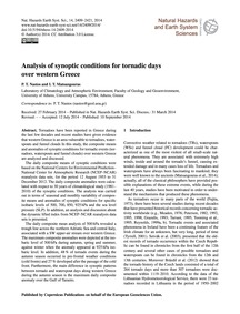 Analysis of Synoptic Conditions for Torn... by Nastos, P. T.