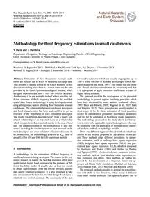 Methodology for Flood Frequency Estimati... by David, V.