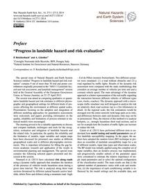 Preface Progress in Landslide Hazard and... by Reichenbach, P.