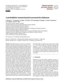 A Probabilistic Tsunami Hazard Assessmen... by Horspool, N.