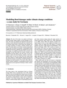 Modelling Flood Damages Under Climate Ch... by Hattermann, F. F.