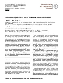 Coseismic Slip Inversion Based on Insar ... by Wang, C.