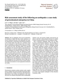Risk Assessment Study of Fire Following ... by Li, J.