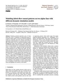 Modeling Debris-flow Runout Patterns on ... by Schraml, K.