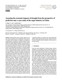 Assessing the Economic Impacts of Drough... by Wang, Y.