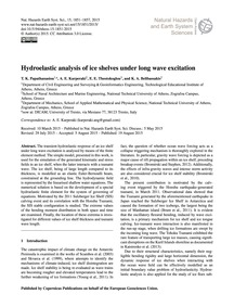 Hydroelastic Analysis of Ice Shelves Und... by Papathanasiou, T. K.