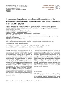 Hydrometeorological Multi-model Ensemble... by Hally, A.