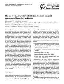 The Use of Noaa/Avhrr Satellite Data for... by Domenikiotis, C.