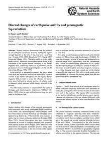 Diurnal Changes of Earthquake Activity a... by Duma, G.