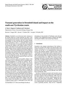 Tsunami Generation in Stromboli Island a... by Tinti, S.