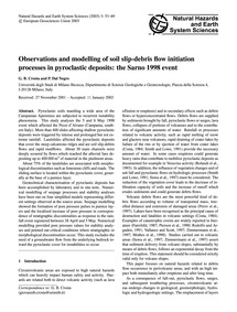 Observations and Modelling of Soil Slip-... by Crosta, G. B.