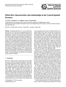 Debris Flow Characteristics and Relation... by Lorente, A.