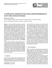 A Model for the Estimation of Storm Loss... by Klawa, M.