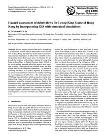 Hazard Assessment of Debris Flows for Le... by Chau, K. T.