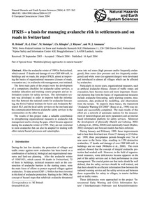 Ifkis - a Basis for Managing Avalanche R... by Bründl, M.