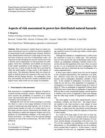 Aspects of Risk Assessment in Power-law ... by Hergarten, S.