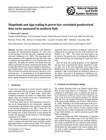 Magnitude and Sign Scaling in Power-law ... by Telesca, L.