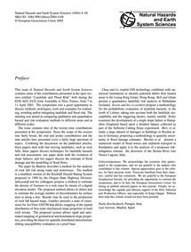 Preface : Volume 4, Issue 1 (09/03/2004) by