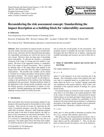 Reconsidering the Risk Assessment Concep... by Hollenstein, K.