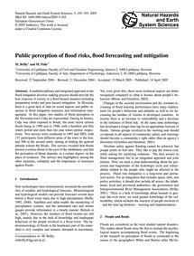Public Perception of Flood Risks, Flood ... by Brilly, M.
