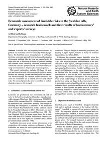 Economic Assessment of Landslide Risks i... by Blöchl, A.