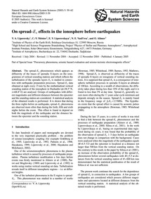 On Spread-ES Effects in the Ionosphere B... by Liperovsky, V. A.
