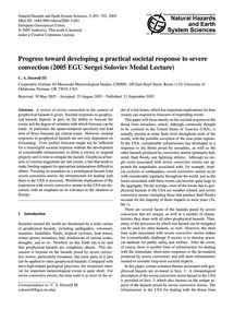 Progress Toward Developing a Practical S... by Doswell Iii, C. A.