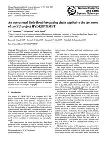 An Operational Flash-flood Forecasting C... by Taramasso, A. C.