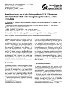 Possible Seismogenic Origin of Changes i... by Kotsarenko, A.