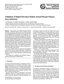 Validation of Digital Elevation Models A... by Gerstenecker, C.