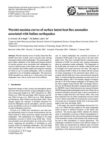 Wavelet Maxima Curves of Surface Latent ... by Cervone, G.