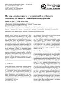 The Long-term Development of Avalanche R... by Fuchs, S.