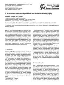A Debris-flow Monitoring Devices and Met... by Itakura, Y.