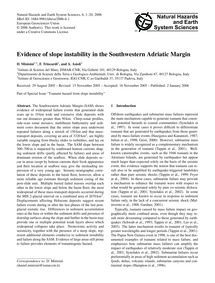 Evidence of Slope Instability in the Sou... by Minisini, D.