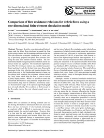 Comparison of Flow Resistance Relations ... by Naef, D.