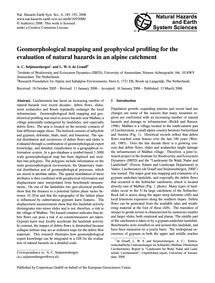 Geomorphological Mapping and Geophysical... by Seijmonsbergen, A. C.