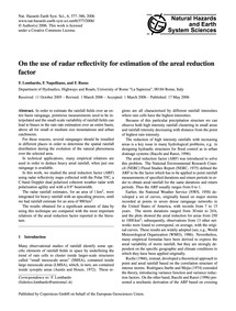 On the Use of Radar Reflectivity for Est... by Lombardo, F.