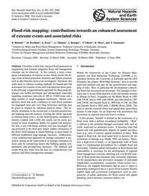 Flood-risk Mapping: Contributions Toward... by Büchele, B.