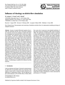 Influence of Rheology on Debris-flow Sim... by Arattano, M.