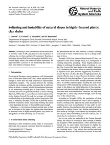 Softening and Instability of Natural Slo... by Picarelli, L.