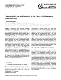 Calendaricities and Multimodality in the... by Osetinsky, I.