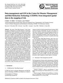 Data Management and Gis in the Center fo... by Köhler, P.