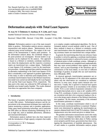 Deformation Analysis with Total Least Sq... by Acar, M.