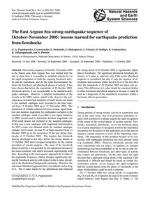 The East Aegean Sea Strong Earthquake Se... by Papadopoulos, G.&Nbsp;A.
