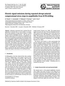 Electric Signal Emissions During Repeate... by Triantis, D.