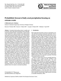 Probabilistic Forecast of Daily Areal Pr... by Bliefernicht, J.
