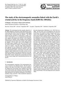 The Study of the Electromagnetic Anomali... by Palangio, P.