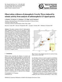 Observation Evidences of Atmospheric Gra... by Rozhnoi, A.