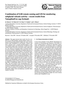 Combination of Sar Remote Sensing and Gi... by Scharrer, K.